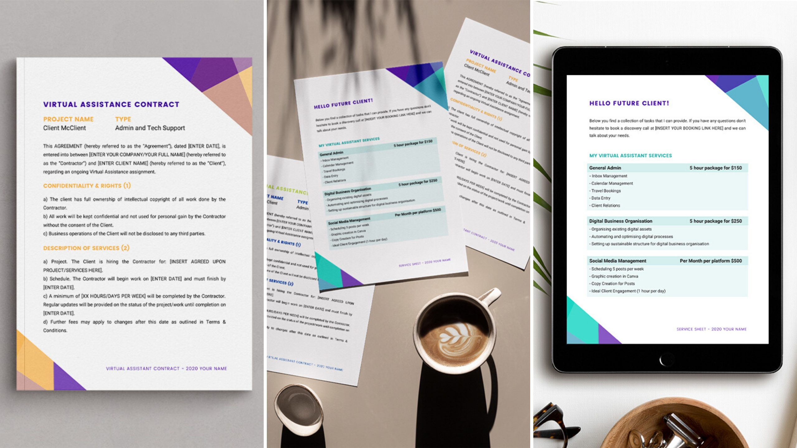 virtual assistant templates